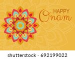 beautiful onam festival... | Shutterstock .eps vector #692199022