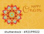 beautiful onam festival... | Shutterstock .eps vector #692199022