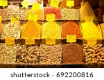 shopping arcade with spices and ... | Shutterstock . vector #692200816