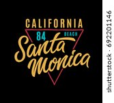 santa monica t shirt design.... | Shutterstock .eps vector #692201146