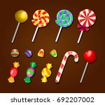set of sweets  candies ... | Shutterstock .eps vector #692207002