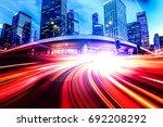 abstract speed technology...   Shutterstock . vector #692208292