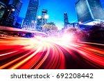 abstract speed technology... | Shutterstock . vector #692208442