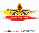 happy navratri festival  design ... | Shutterstock .eps vector #692208778