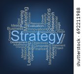 strategy word cloud | Shutterstock .eps vector #692211988