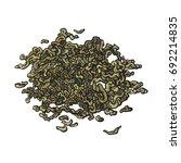 hand drawn pile  heap  handful... | Shutterstock .eps vector #692214835