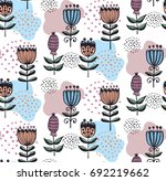 flowers floral graphic seamless ... | Shutterstock .eps vector #692219662