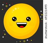 flat line emoji icon. emoticon... | Shutterstock .eps vector #692221495
