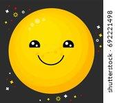 flat line emoji icon. emoticon... | Shutterstock .eps vector #692221498
