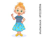 vector cutout girl making... | Shutterstock .eps vector #692228506