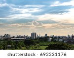 cloudy sky over the city view... | Shutterstock . vector #692231176