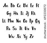 vector alphabet. calligraphic... | Shutterstock .eps vector #692233072