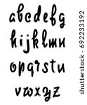 vector alphabet. calligraphic... | Shutterstock .eps vector #692233192