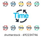 time clock icon | Shutterstock .eps vector #692234746