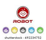 robot icon | Shutterstock .eps vector #692234752