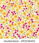 cute floral pattern in the... | Shutterstock .eps vector #692236432