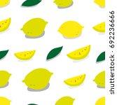 lemon pattern. seamless pattern.... | Shutterstock .eps vector #692236666