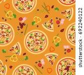 vector seamless texture of... | Shutterstock .eps vector #692240122