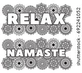set of words relax and namaste...   Shutterstock .eps vector #692241052