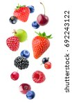 isolated falling berries. mixed ... | Shutterstock . vector #692243122