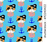 vector seamless pattern with... | Shutterstock .eps vector #692243422