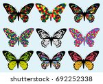 colorful butterfly design icon... | Shutterstock .eps vector #692252338