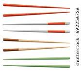 chopsticks vector set.... | Shutterstock .eps vector #692256736