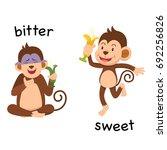 opposite bitter and sweet... | Shutterstock .eps vector #692256826