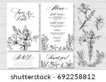 template rustic wedding... | Shutterstock .eps vector #692258812