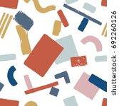abstract contemporary memphis...   Shutterstock .eps vector #692260126