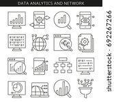data analytics and network... | Shutterstock .eps vector #692267266