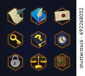 set of game 2d detective icons...
