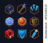 set of game 2d magical icons...