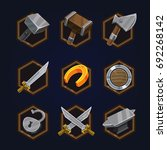 set of game 2d icons for casual ...
