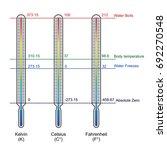 comparison of three temperature ... | Shutterstock .eps vector #692270548
