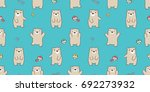 bear polar bear mushroom wood... | Shutterstock .eps vector #692273932