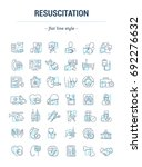 vector graphic set. isolated... | Shutterstock .eps vector #692276632