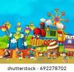 cartoon funfair   amusement... | Shutterstock . vector #692278702