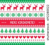 merry christmas in maori   new... | Shutterstock .eps vector #692280022