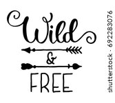 wild and free hand brush...