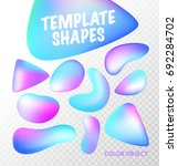 transparent set template shapes.... | Shutterstock .eps vector #692284702