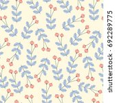 seamless pattern with branches... | Shutterstock .eps vector #692289775
