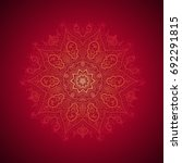 red islam pattern. arab art.... | Shutterstock . vector #692291815