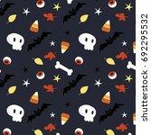 cute halloween pattern with... | Shutterstock .eps vector #692295532
