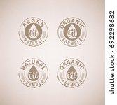 natural oils. organic bio... | Shutterstock .eps vector #692298682