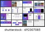 modern minimalist purple and... | Shutterstock .eps vector #692307085