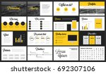 modern minimalist yellow and... | Shutterstock .eps vector #692307106