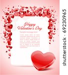 heart with card frame valentine'... | Shutterstock .eps vector #69230965