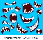 set of happy monster's mouth in ...   Shutterstock .eps vector #692311552