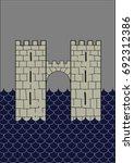 redraw of house frey heraldic... | Shutterstock .eps vector #692312386